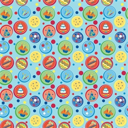Birthday Blue Dot Gift Wrap | Party Supplies