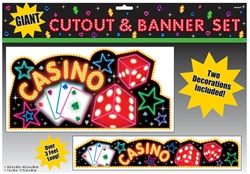 Casino Cutout & Banner Set | Party Supplies