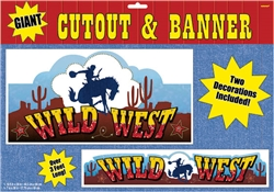 Western Printed Cutout & Banner Set | Party Supplies