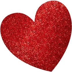Heart Mega Value Pack Glitter Cutouts | Valentines decorations