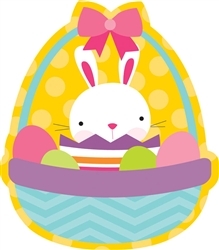 Easter Bunny with Basket Cutout | Party Supplies