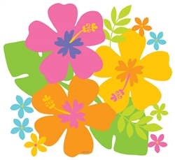 "11"" Hibiscus Cutout 
