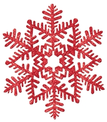 Red Small Snowflake Decoration | Party Supplies