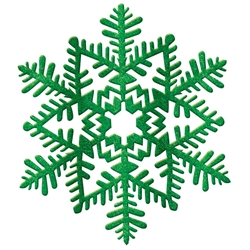 Green Small Snowflake Decoration | Party Supplies