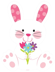 Easter Bunny with Flowers Cutout | Easter Supplies
