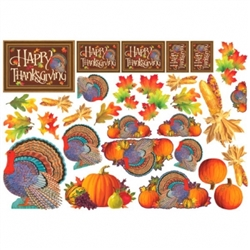 Thanksgiving Mega Value Pack Cutouts | Party Supplies