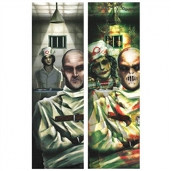 Asylum Lenticular Sign | Halloween Party Supplies