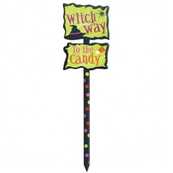 Witch Way Yard Sign | Halloween Supplies