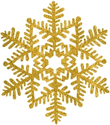 Gold Small Snowflake Decoration | Party Supplies