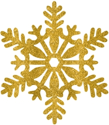 Gold Medium Snowflake Decoration | Party Supplies