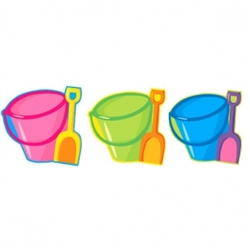 Pail & Shovel Cutout | Luau Party Supplies
