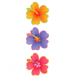 Hibiscus Flower Cutout | Luau Party Supplies