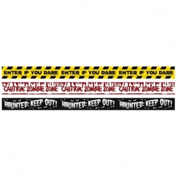 Halloween Fright Tape Banners