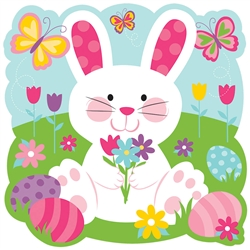 Easter Bunny with Butterflies Cutout | Party Supplies