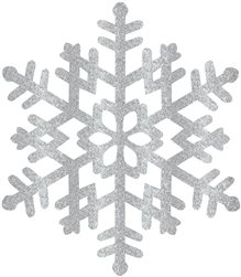 Silver Large Snowflake Decoration | Party Supplies