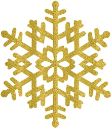 Gold Large Snowflake Decoration | Party Supplies