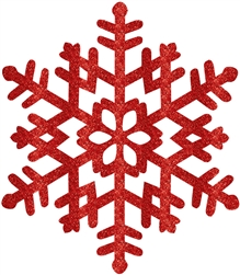 Red Large Snowflake Decoration | Party Supplies