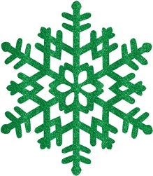 Green Large Snowflake Decoration | Party Supplies