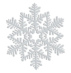 Silver Small Snowflake Decoration | Party Supplies