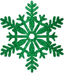 Green Medium Snowflake Decoration | Party Supplies