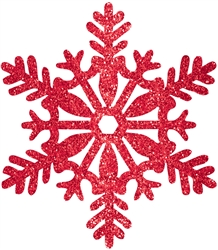 Red Medium Snowflake Decoration | Party Supplies