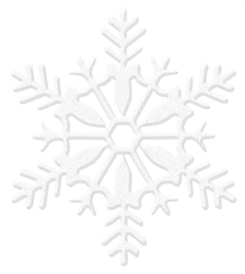 White Medium Snowflake Decoration | Party Supplies