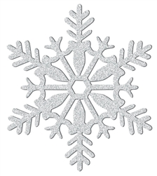 Silver Medium Snowflake Decoration | Party Supplies