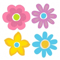 Spring Super Value Mini Glitter Cutouts | Party Supplies