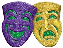 Comedy/Tragedy 3-D Decoration | Mardi Gras Party Supplies