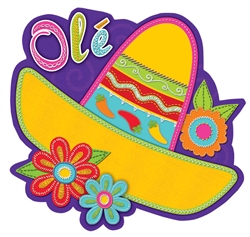 Sombrero w/Flowers Cutout | Party Supplies