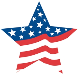 Patriotic Cutout - 8"