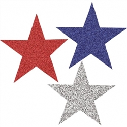 Patriotic Mini Glitter Cutout Assortment | Party Supplies