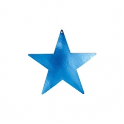 "Blue 3-1/2"" Mini Packaged Foil Star 