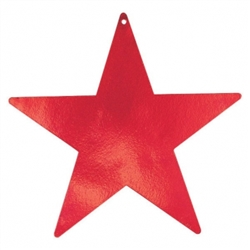 "Red 3-1/2"" Mini Packaged Foil Star 