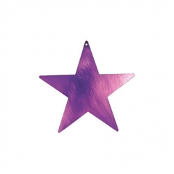 "Purple 3-1/2"" Mini Packaged Foil Star 