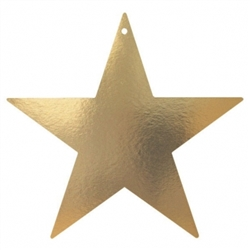 "Gold 3-1/2"" Mini Packaged Foil Star 