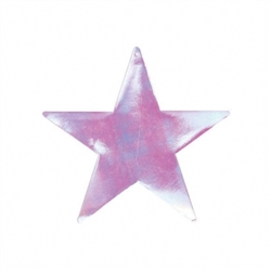 "Iridescent 3-1/2"" Mini Packaged Foil Star 