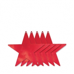 "Red 9"" Foil Star 