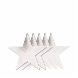 "Silver 9"" Foil Star 
