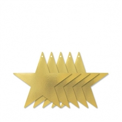 "Gold 9"" Foil Star 