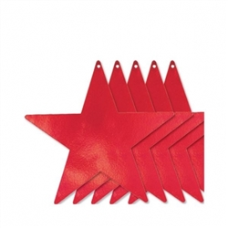 "Red 12"" Foil Star"