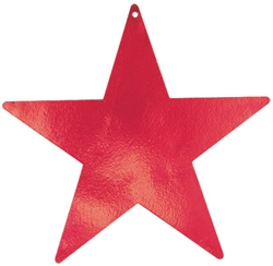 "Red 15"" Foil Star"