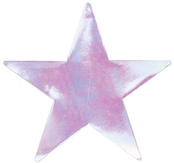 "Iridescent 15"" Foil Star"