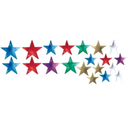 Multi Star Foil Value Pack Cutout | Party Supplies