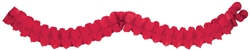 Red 12' Paper Garland | party decorations