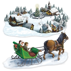 Holiday Village & Sleigh Ride Props | Party Decorations