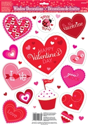 Valentine Window Decorations | Valentines supplies