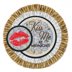 Kiss Me at Midnight Jumbo Button | Party Supplies