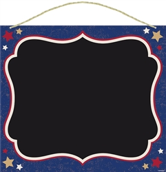 Americana Sign w/Rope Hanger Chalkboard | Party Supplies