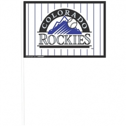 Colorado Rockies Plastic Flags | Party Supplies
